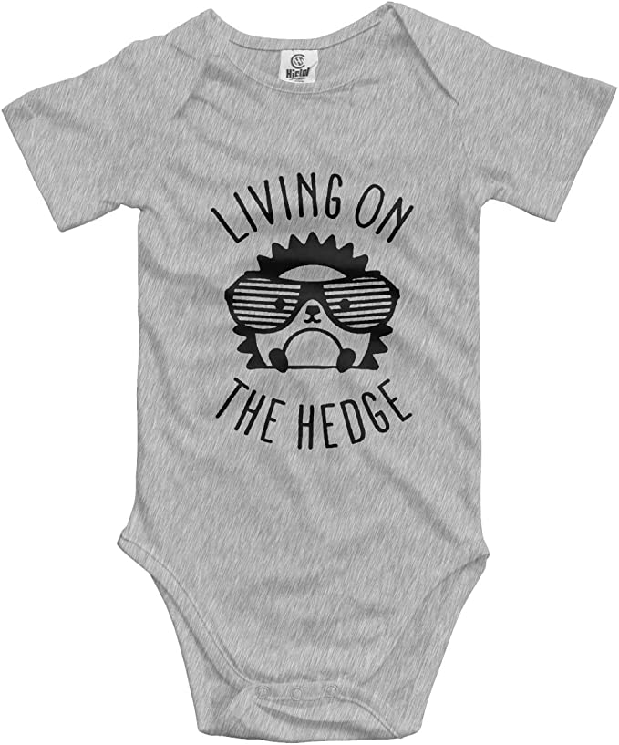 Infant Baby Cute Corgi With A Glass Long Sleeve Bodysuits For Unisex Boys Girls 100/% Cotton