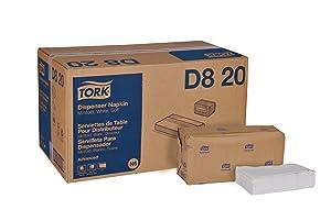 """Tork Advanced Soft D820 Minifold Dispenser Napkin, 1-Ply, 13"""" Width x 12"""" Length, White (Case of 12 Packs, 500 per Pack, 6,000 Napkins)"""