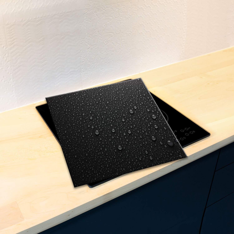 SemUp Gigante tabla de cortar encimera de cristal endurecido | Protector de pantalla | splash-back | 60 cm x 52 cm para cocinas de inducción eléctrica ...