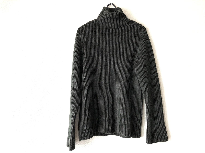 (ドルチェ&ガッパーナ) DOLCE&GABBANA セーター 長袖セーター メンズ ダークグリーン×ダークブラウン 【中古】 B07FDVDD78  -