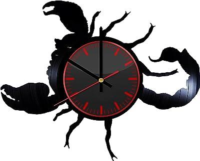 Taniastore Scorpio Horoscope Zodiac Sign Design Vinyl Record Wall Clock Unique gifts for him her Gift