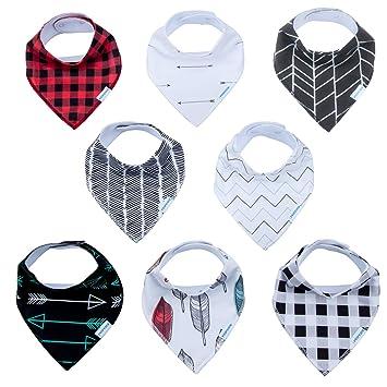 Amazon.com: Baberos para bebé, diseño de gota de bandana ...