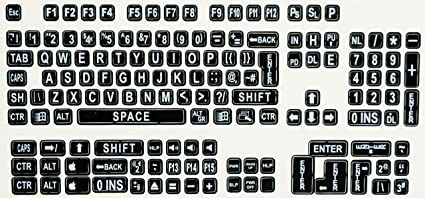 graphic relating to Printable Keyboard Stickers referred to as : VIZIFLEX Significant Print Keyboard Stickers (KTSB