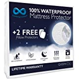 Everlasting Comfort Waterproof Queen Mattress Protector with 2 Pillow Protectors