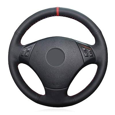 Eiseng DIY Car Steering Wheel Cover for BMW 3 Series E90 E91 E92 E93 320i 325i 328i 330i 335i 2006-2011 Microfiber Leather Interior Accessories: Automotive