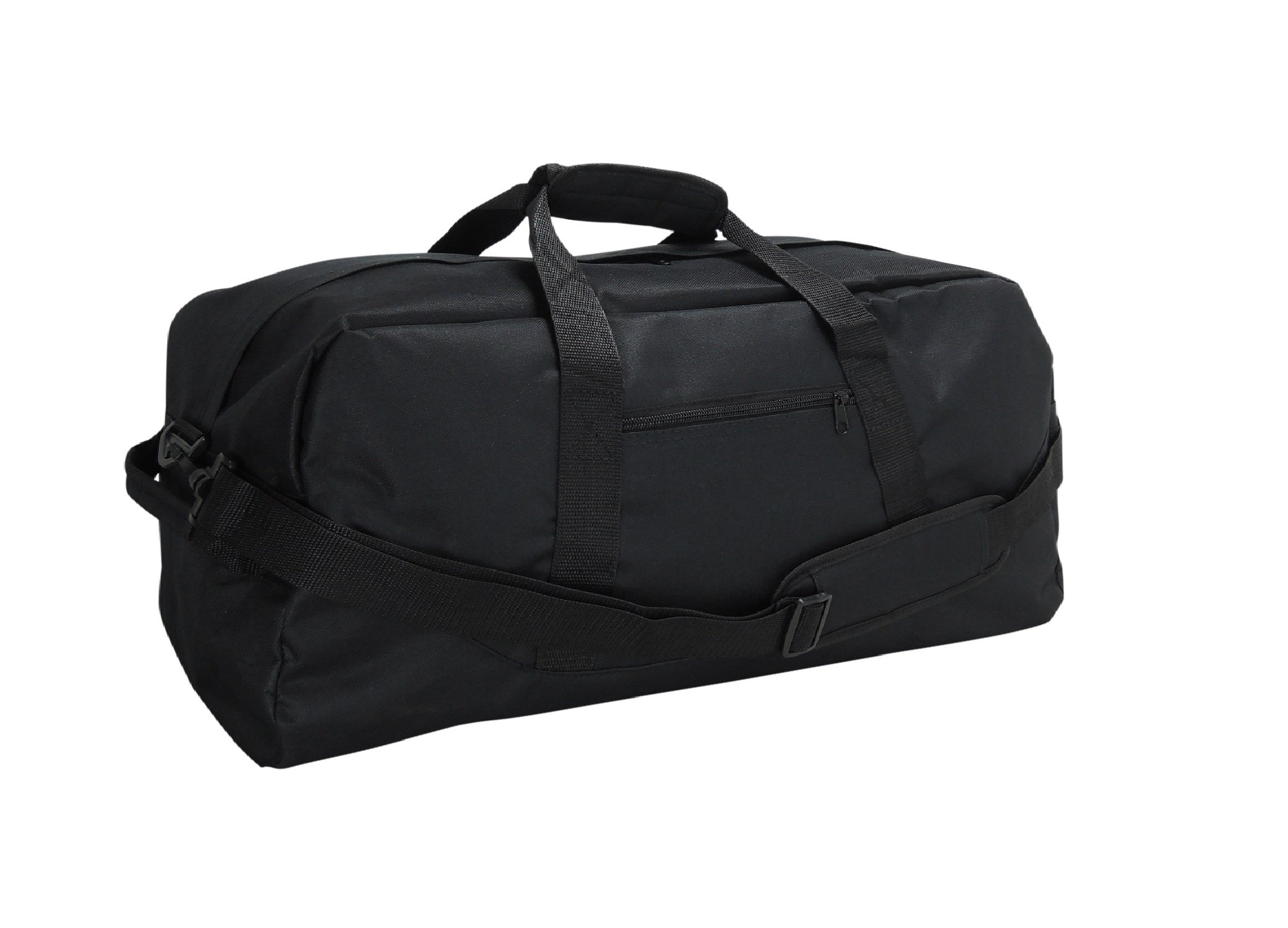 DALIX 21'' Large Duffle Bag with Adjustable Strap (Black)