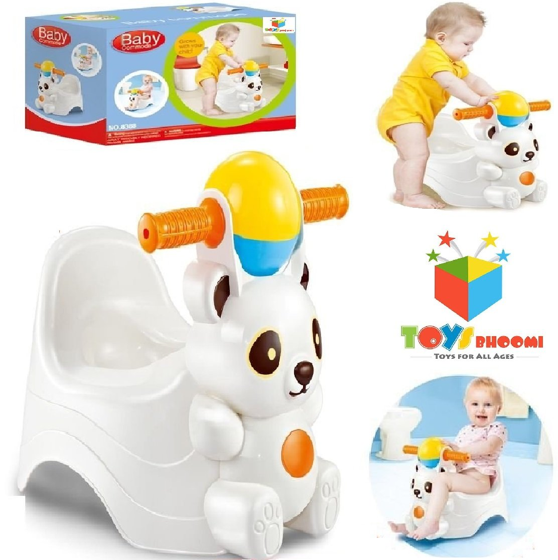 Toys Bhoomi Little Baby Panda Style Infant Potty Training Loo Commode Potty Seat