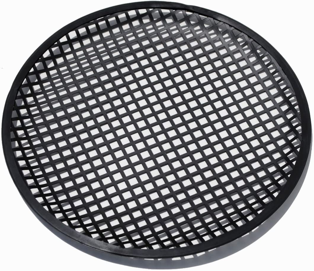2 8 Inch Speaker Grills Sub Woofer Grille Covers Guard Metal Waffle Style