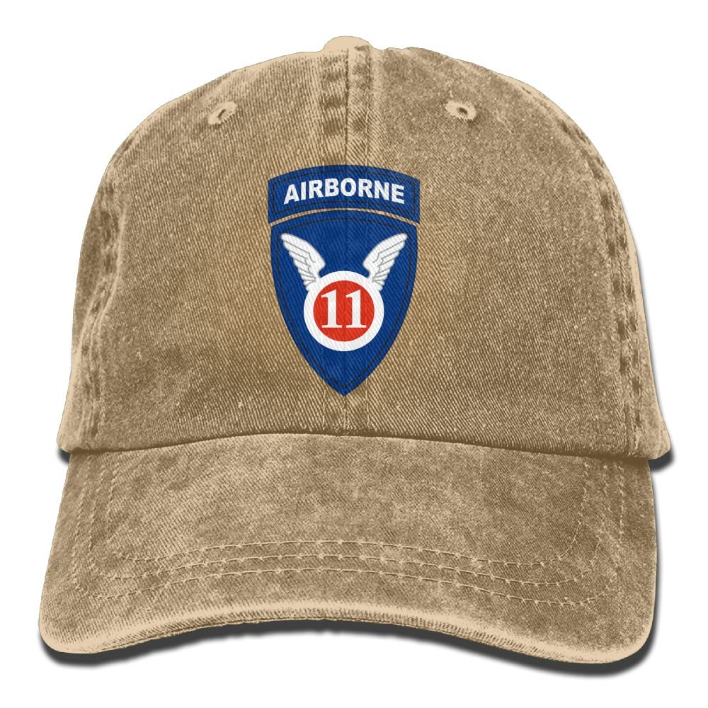 Trableade Us Army 11th Airborne Division Logo Adult Sport Adjustable Structured Baseball Cowboy Hat
