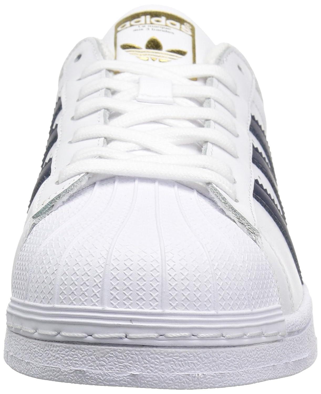 52e7a91d482a Zapatillas de deporte casual de la superestrella de los hombres de adidas  Originals Blanco   Colegiado Azul marino   Metálico   Dorado