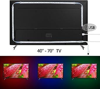 Kivvo TV Retroiluminación RGB LED tira (80 pulgadas) Kit USB ...