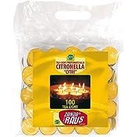Mondo Verde LUZ01 Pack de 100 Velas citronela