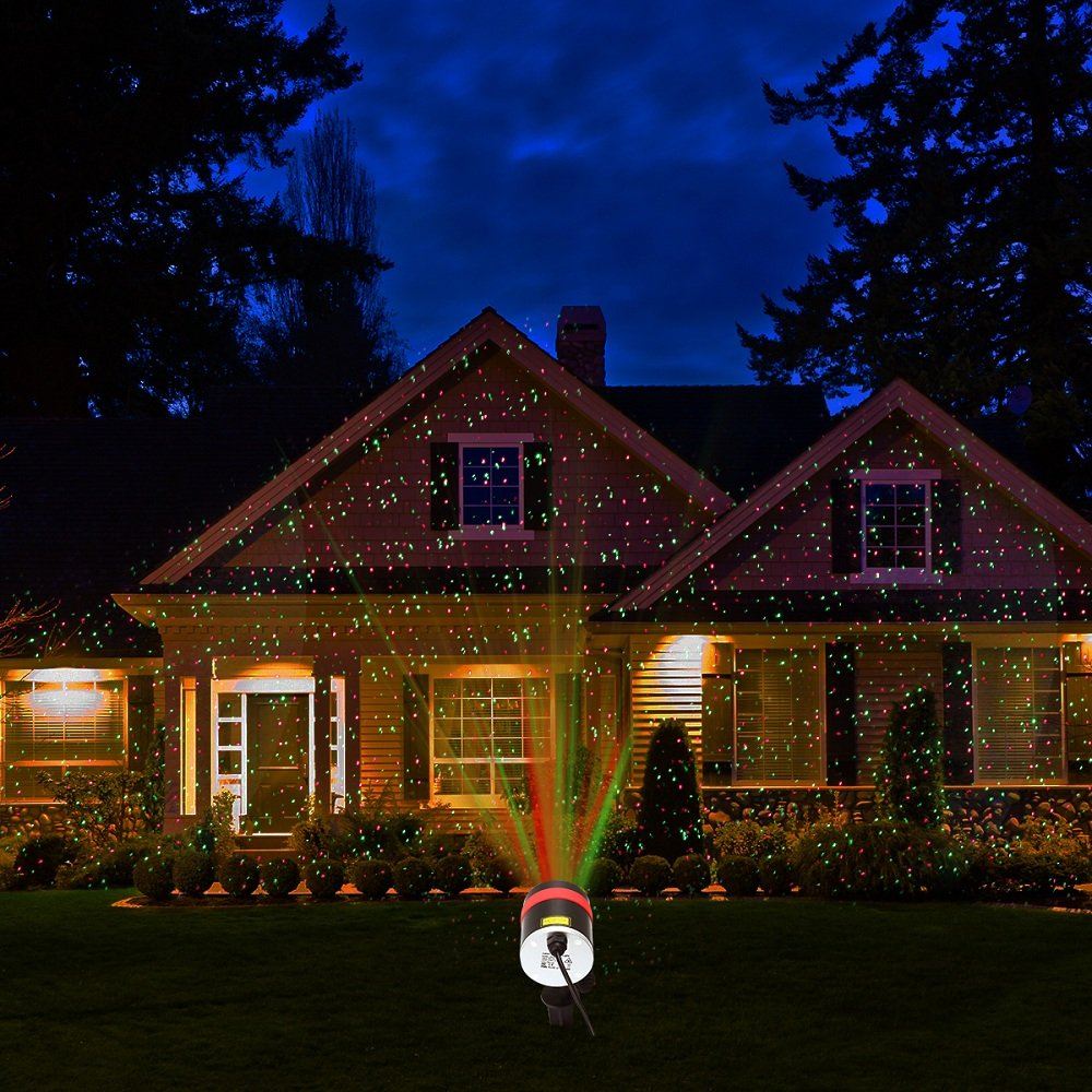 laser christmas lights alpulon red and green star projectorwaterproof moving star laser with rf wireless remote and 8 lighting modes for christmas