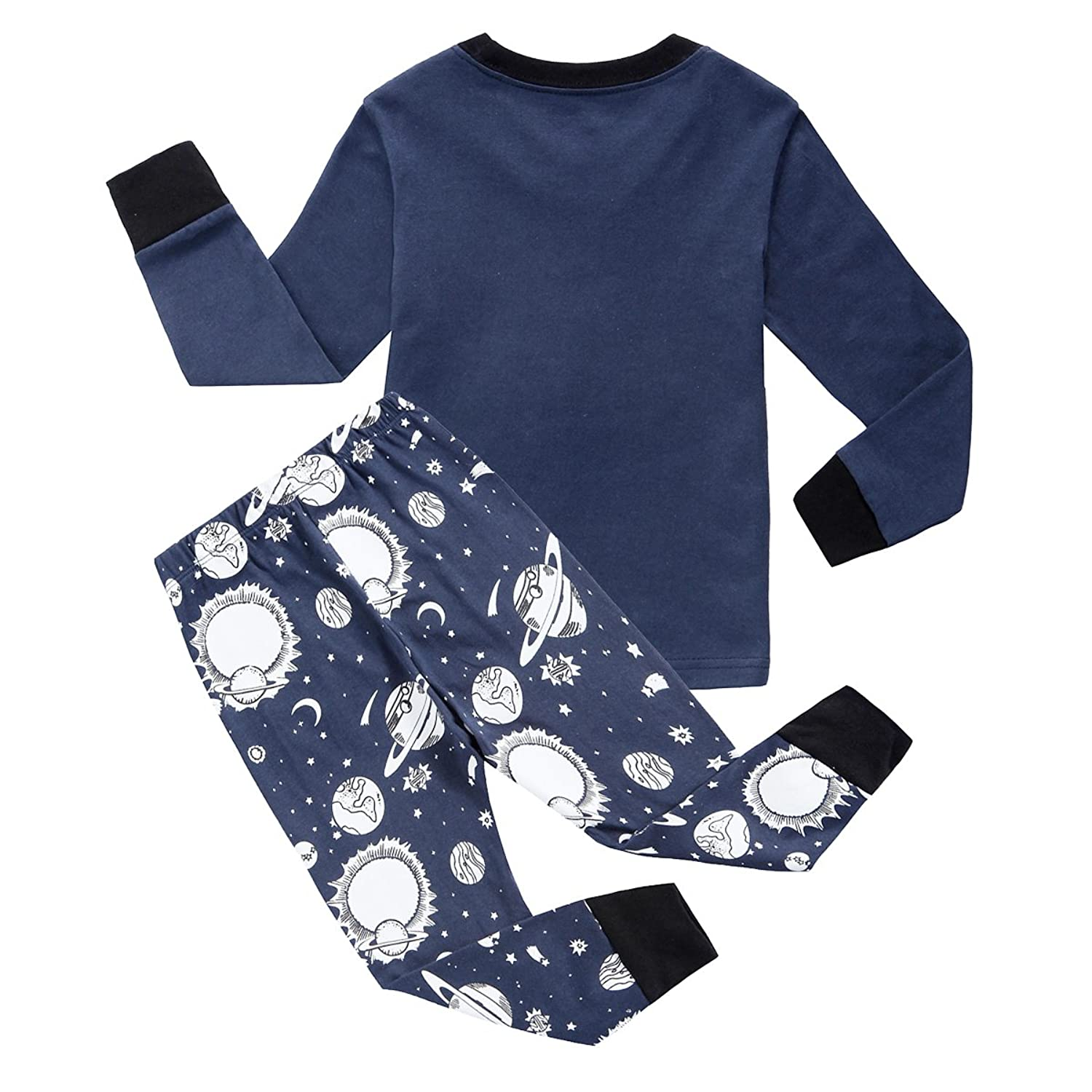 com feyg little boys space pajamas toddler pjs sets 100  com feyg little boys space pajamas toddler pjs sets 100% cotton sleepwears size 2 7t clothing