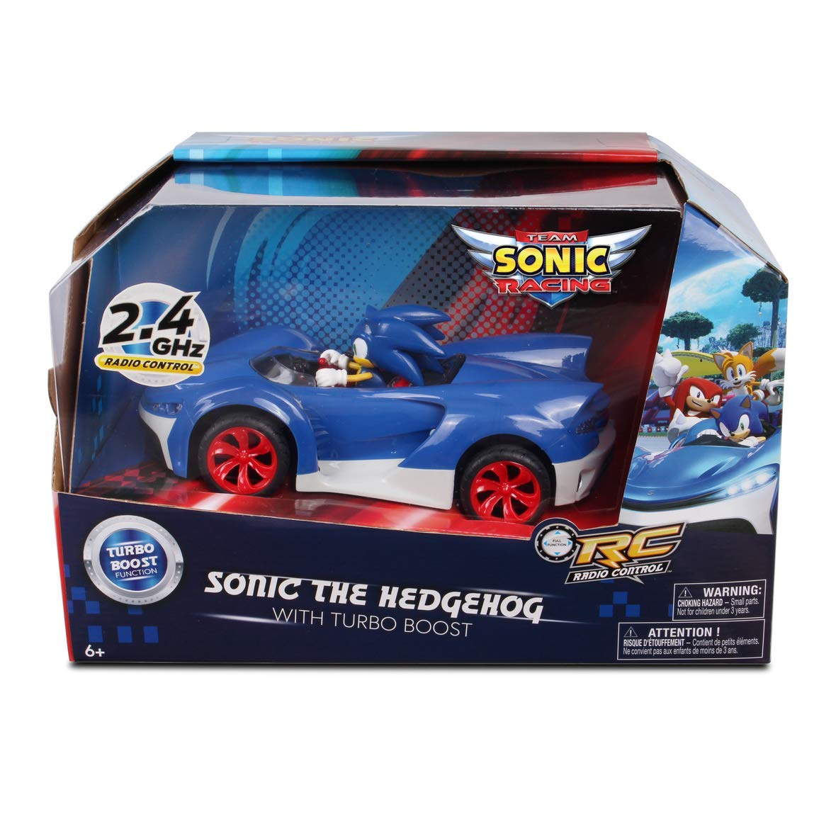 Amazon.com: NKOK Team Sonic Racing 2.4Ghz Remote Controlled Car with Turbo Boost - Shadow The Hedgehog: Toys & Games
