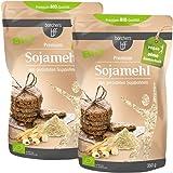 2 x borchers Bio Premium Sojamehl | Vegetarisch und Vegan | Hoher Ballaststoff- und Eiweißgehalt | Aus gerösteten Sojabohnen | 350 g