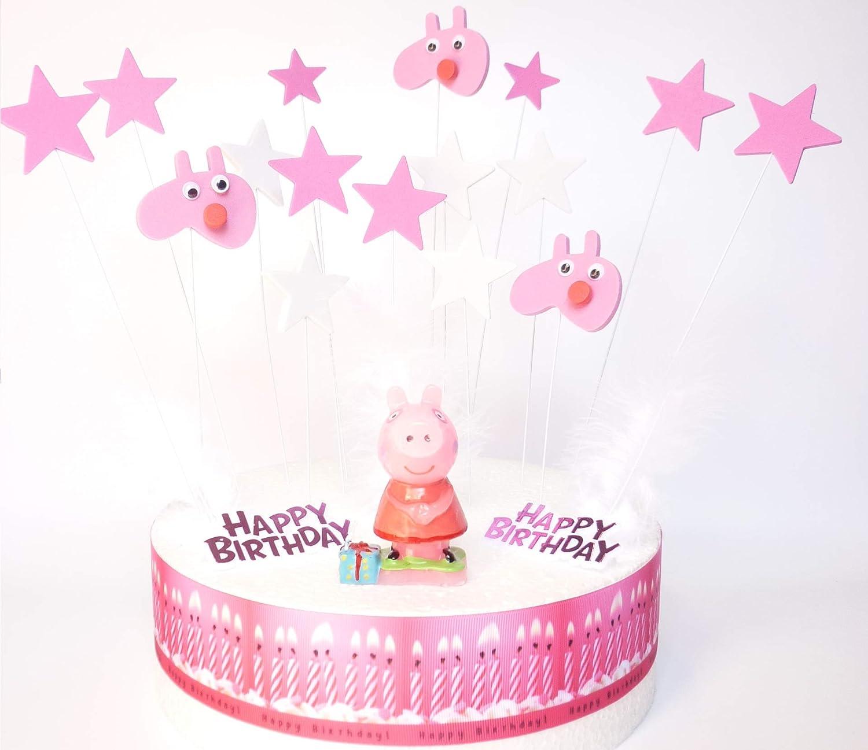 Amazon.com: OSK Peppa Pig - Juego de decoración para tartas ...
