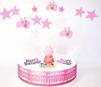 Amazon.com: Peppa Pig Dekora Birthday Cake Decoration Set ...