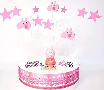 Peppa Pig – Set de decoración de tarta de cumpleaños