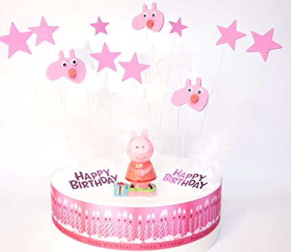 Amazon.com: Peppa Pig Dekora Birthday Cake Decoration Set ...