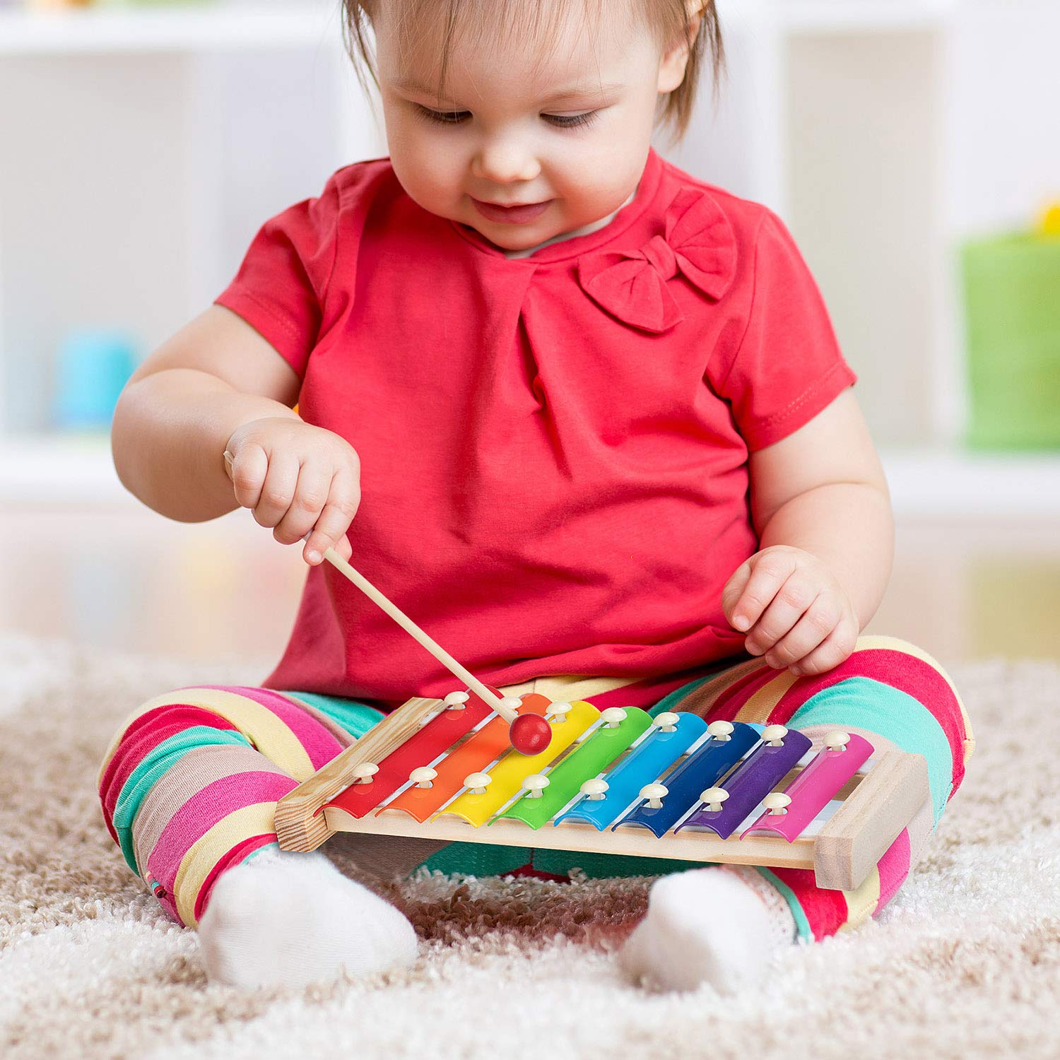 Xylophone for Kids Set Of Three Instrument Toys With Two Xylophone,One caterpillar toy-JiangChuan(2019 New Design),Best Birthday/Holiday Gift For Children's with Two Safe Mallets,Free Music socure by JiangChuan (Image #4)