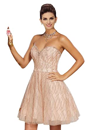 659f3a4b923 Off The Shoulder Homecoming Dresses A-line Pearls Sequined Tulle Graduation  Dress College Available 2019 at Amazon Women s Clothing store