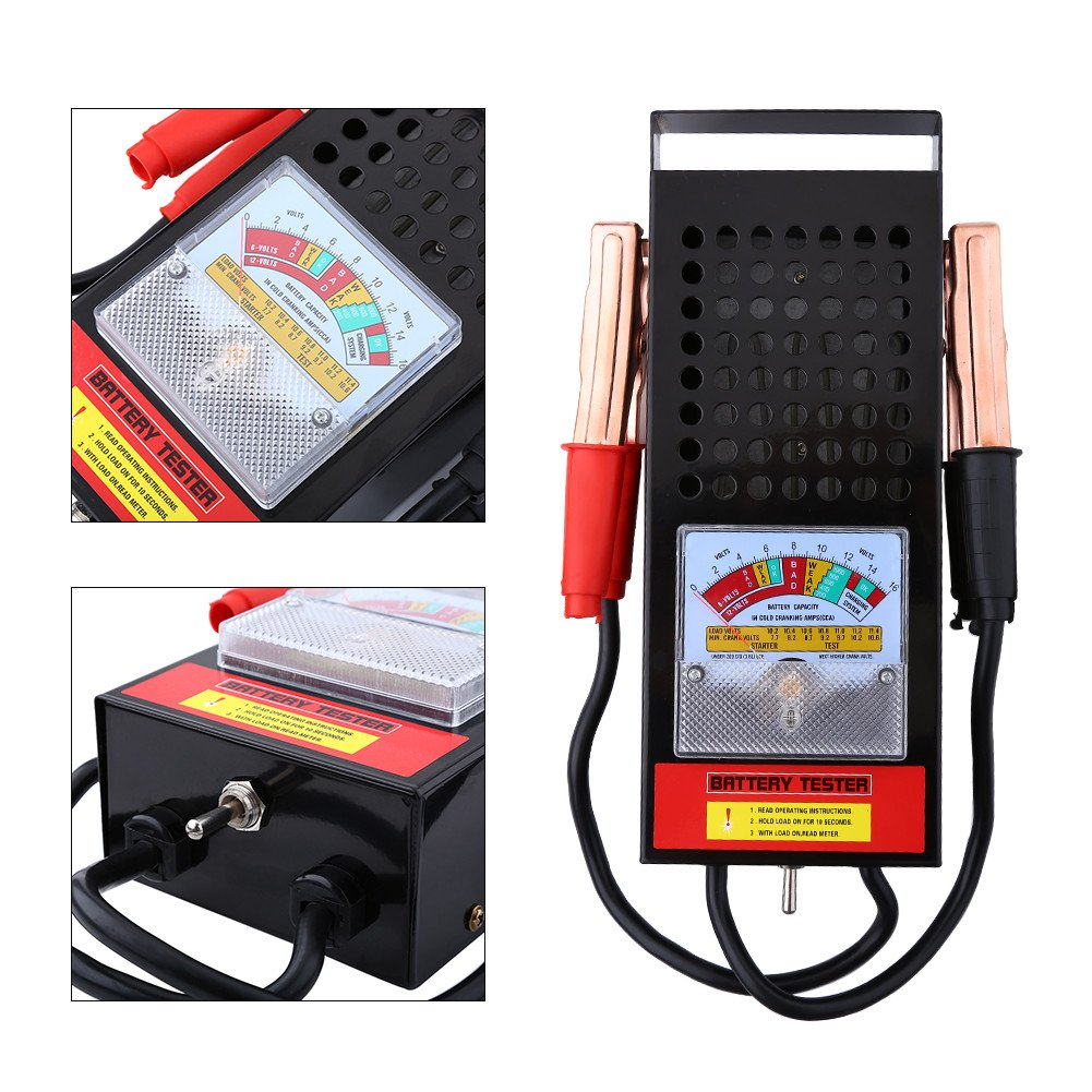 GOTOTOP Auto LKW Batterietester Batterie Ladesystem Tester Pr/üfer Tool 6V-12V 100Amp
