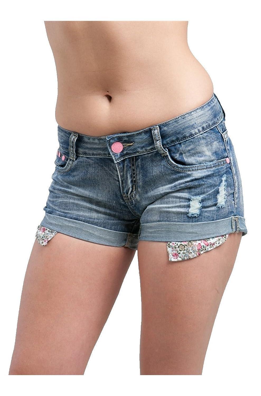 MOD 20 Women's Distressed Acid Wash Cutoff Shorts