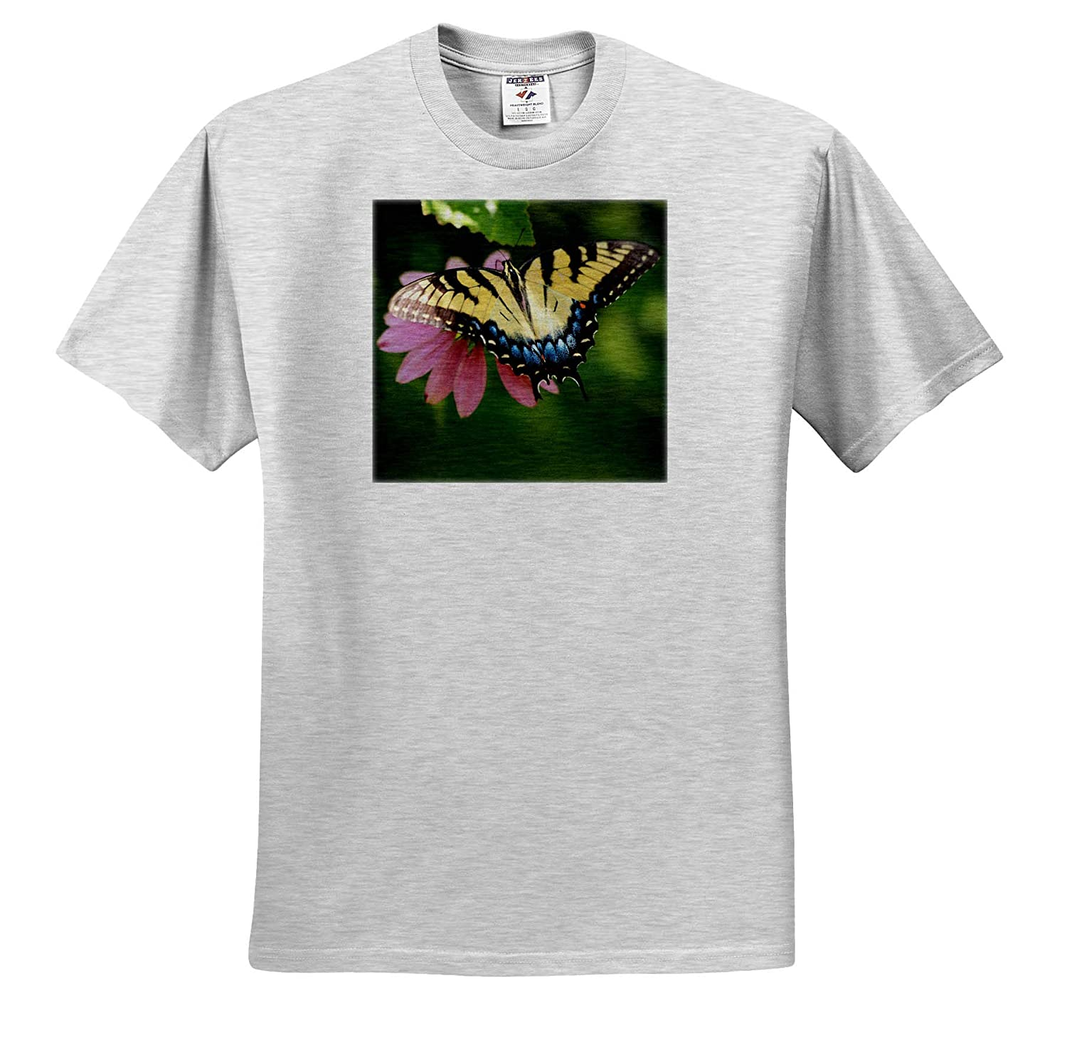 Top View Macro Photograph of an Eastern Tiger Swallowtail Insect ts/_320187 - Adult T-Shirt XL 3dRose Stamp City