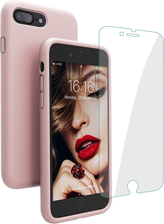 Funda Iphone Original 7 plus y 8 plus Silicona - Rosa - Celulares