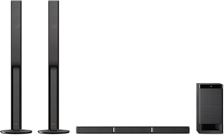 Sony HTRT4 - Barra de Sonido (5.1 Canales con Altavoces Traseros, 600 W, Bluetooth, NFC, Amplificador Digital S-Master, USB) Negro