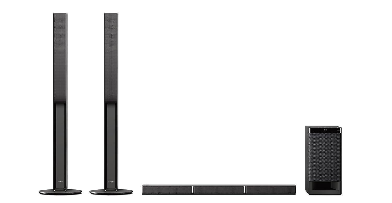 Sony HTRT4 - Barra de Sonido (5.1 Canales con Altavoces Traseros, 600 W, Bluetooth, NFC, Amplificador Digital S-Master, USB, subwoofer inalámbrico) Negro