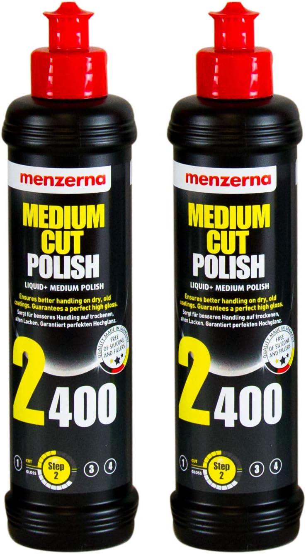 Menzerna 2x Medium Cut Polish 2400 Schleifpolitur Politur Schleifpaste 250 Ml Auto