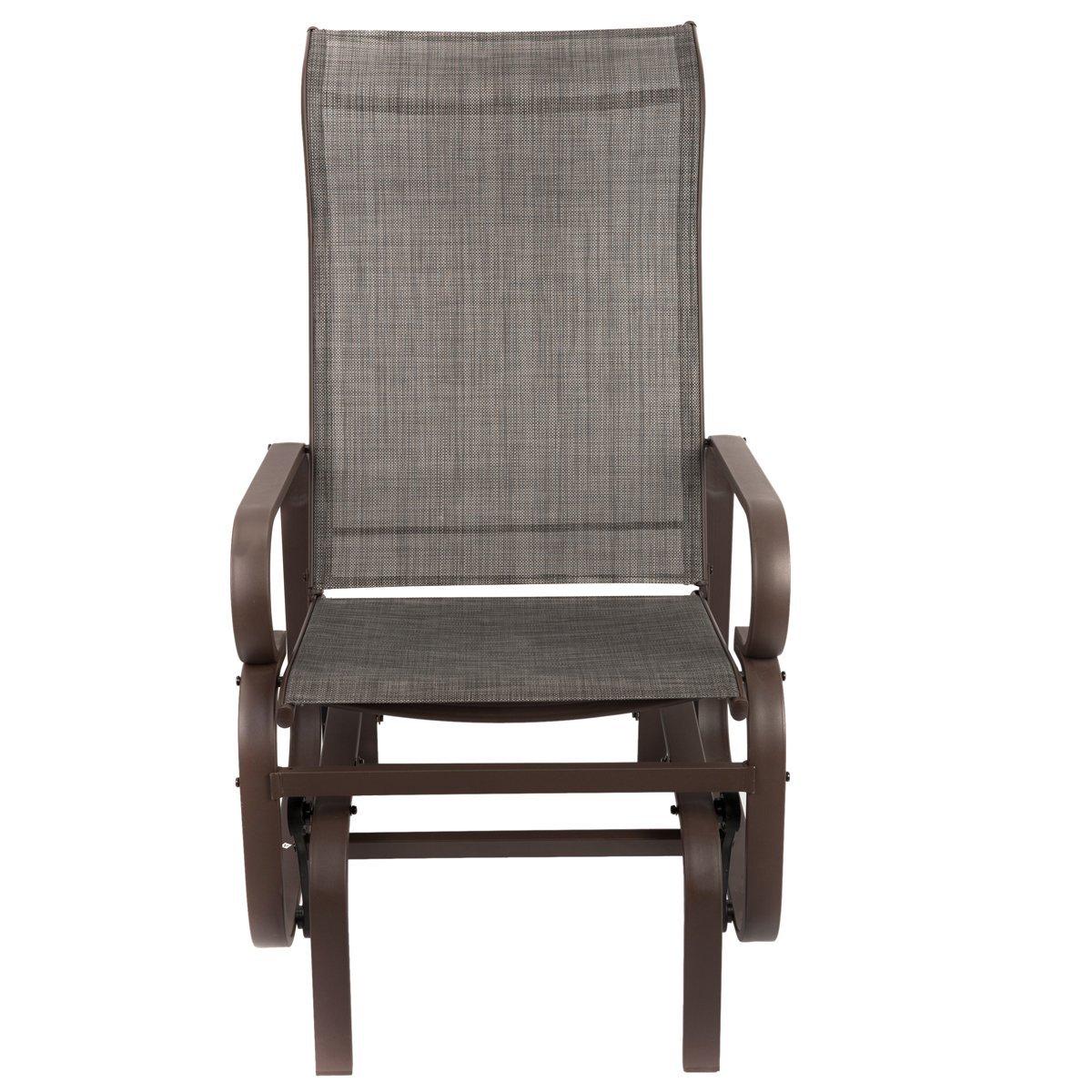 Naturefun Outdoor Patio Rocker Chair Balcony Glider Rocking Lounge Chair Be