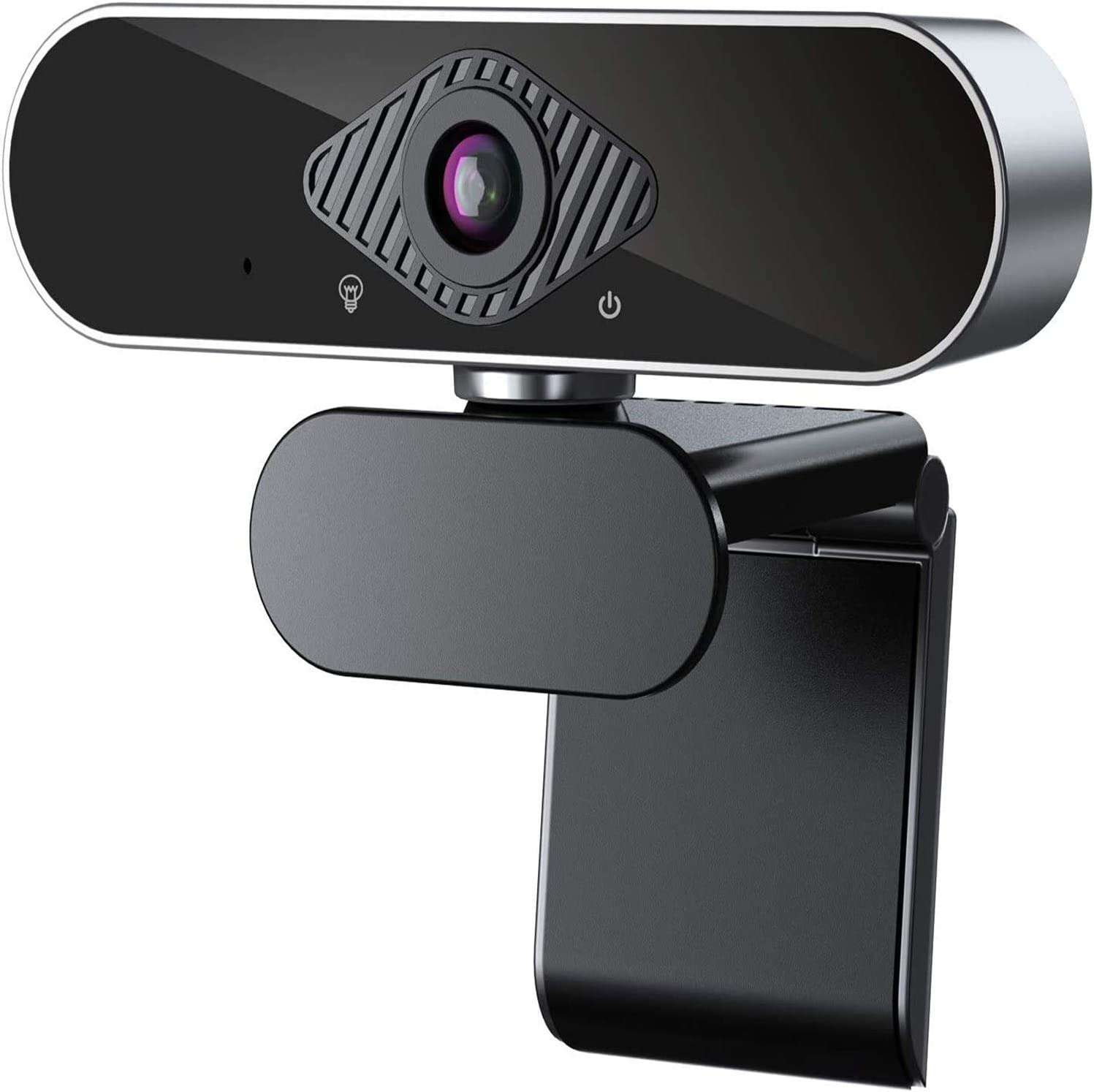 1080P Webcam with Dual Microphone,MASALING Computer Streaming Web Camera USB Webcam with Auto Light Correction Desktop Laptop Webcam for Video Conferencing, Teaching, Streaming and Gaming