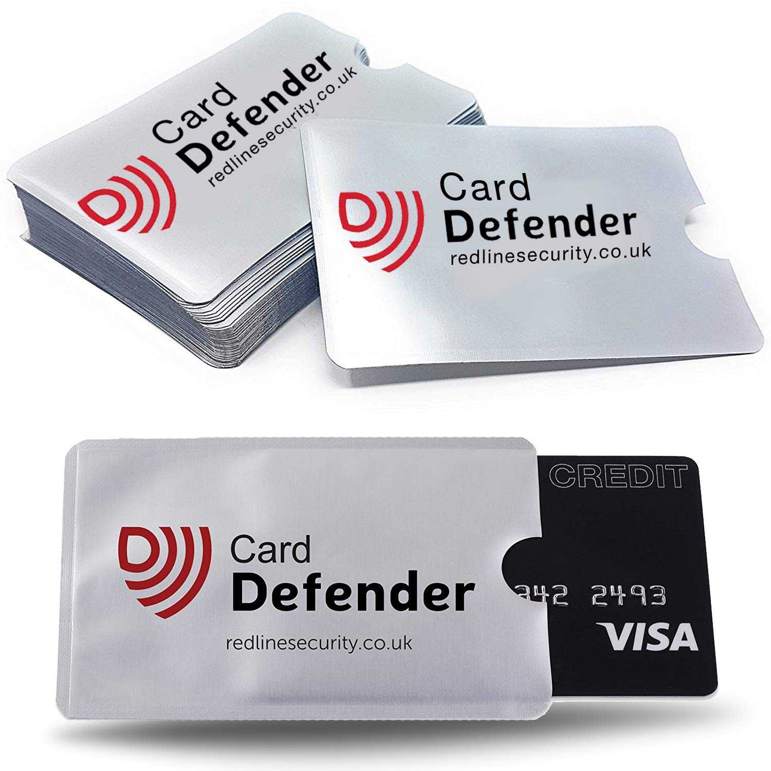 5 x Card Defenders - Police Preferred Specification RFID Blocking Sleeves for Protecting Your Contactless Card - Pack of 5 Solon Security