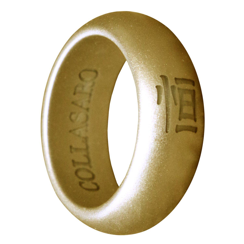 【10%OFF】 collasaroシリコンウェディングリング、古代中国文字Heng (Eternity) 10 ゴムリングウェディングバンドの男性と女性 B07CN5VDMT ゴールド B07CN5VDMT Size Size 10 (Φ19.8mm) Size 10 (Φ19.8mm) ゴールド, 安心安全のがんばる館:b36cae06 --- beyonddefeat.com
