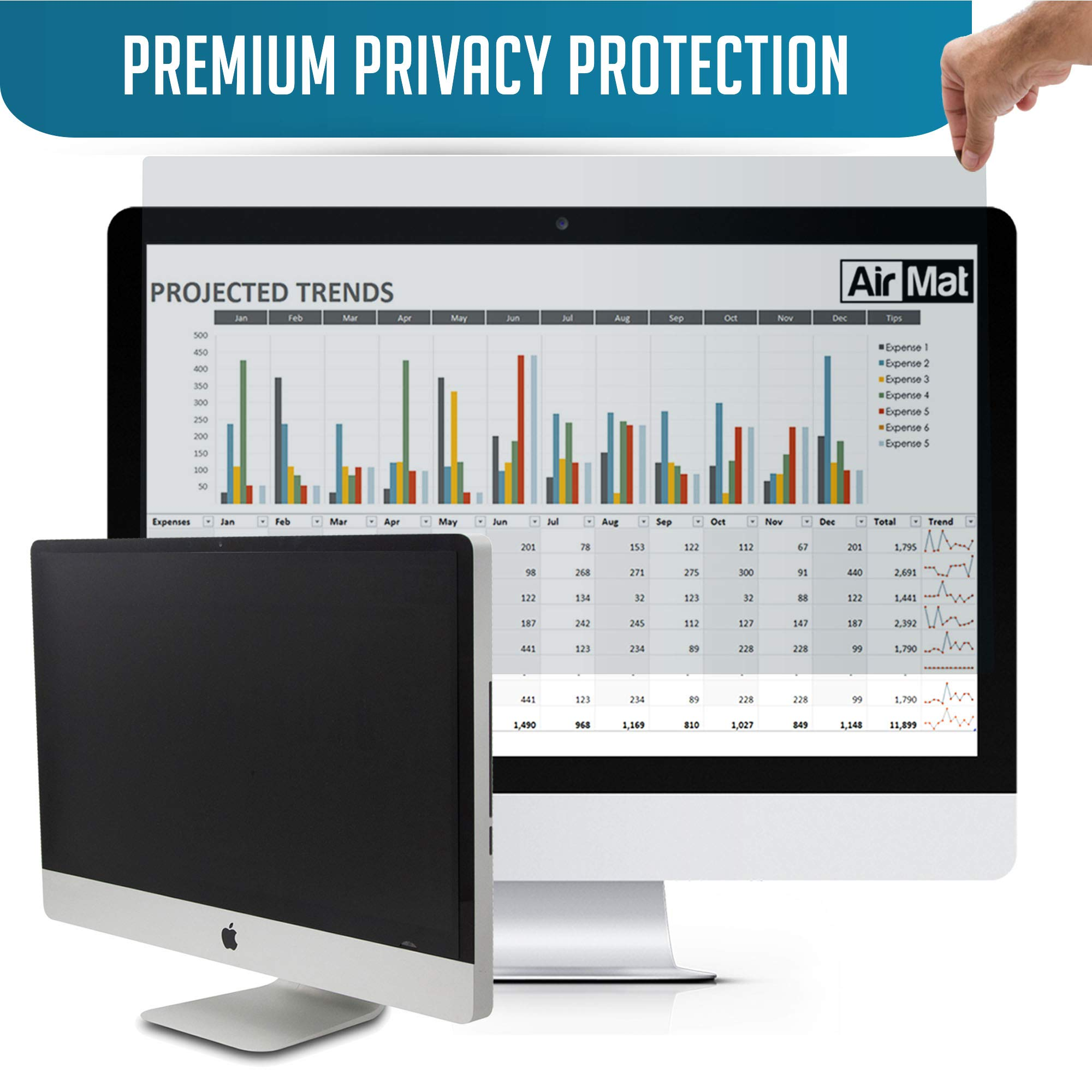 Privacy Screen Filter and Anti Glare for 11.6 Inches Laptop with Aspect Ratio 16:09 Please Check Dimension Carefully