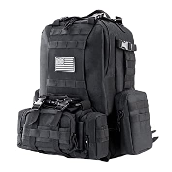 Amazon.com : Z ZTDM 50L Outdoor Military Tactical Backpack Army ...