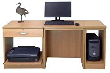 Home Mobiliario de Oficina UK pequeño Ordenador portátil Impresora Mesa para niños Kids Escritorio de Ordenador
