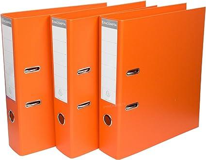 Pack de 3] color naranja A4 Archivadores De Palanca 70 mm ...