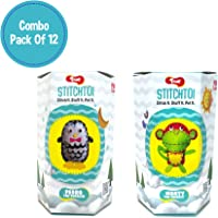 Toiing Stitchtoi Return Gift Combo Pack of 12: Penguin and Monkey, 6 Units Each