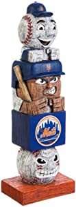 Rico Industries, Inc. Mets 16 Inch Tiki Totem Pole Outdoor Resin Home Garden Statue Decoration Baseball