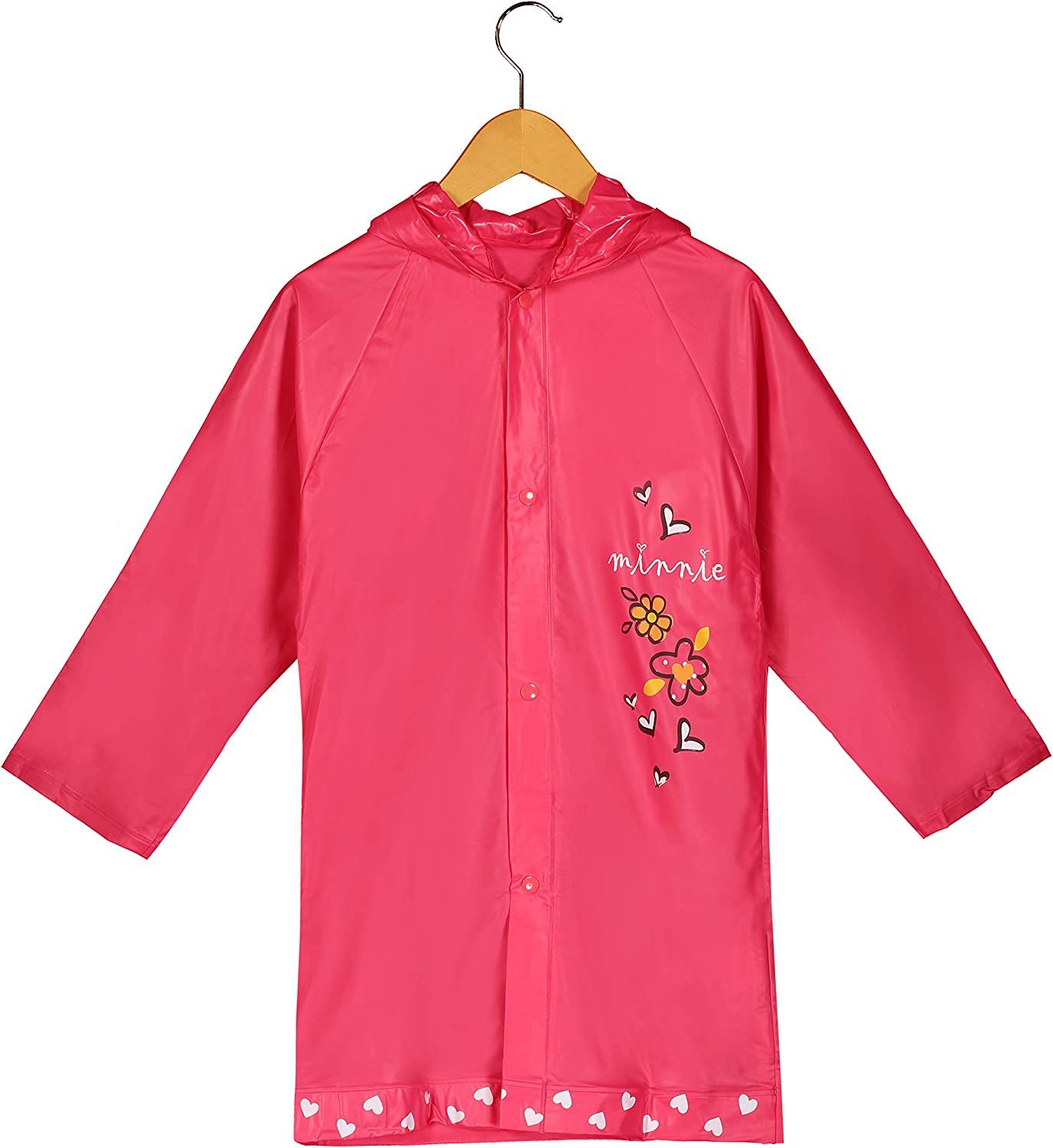 Disney New Minnie Mouse Girl's Pink Rain Slicker Size Small 2/3 Medium 4/5 and Large 6/7