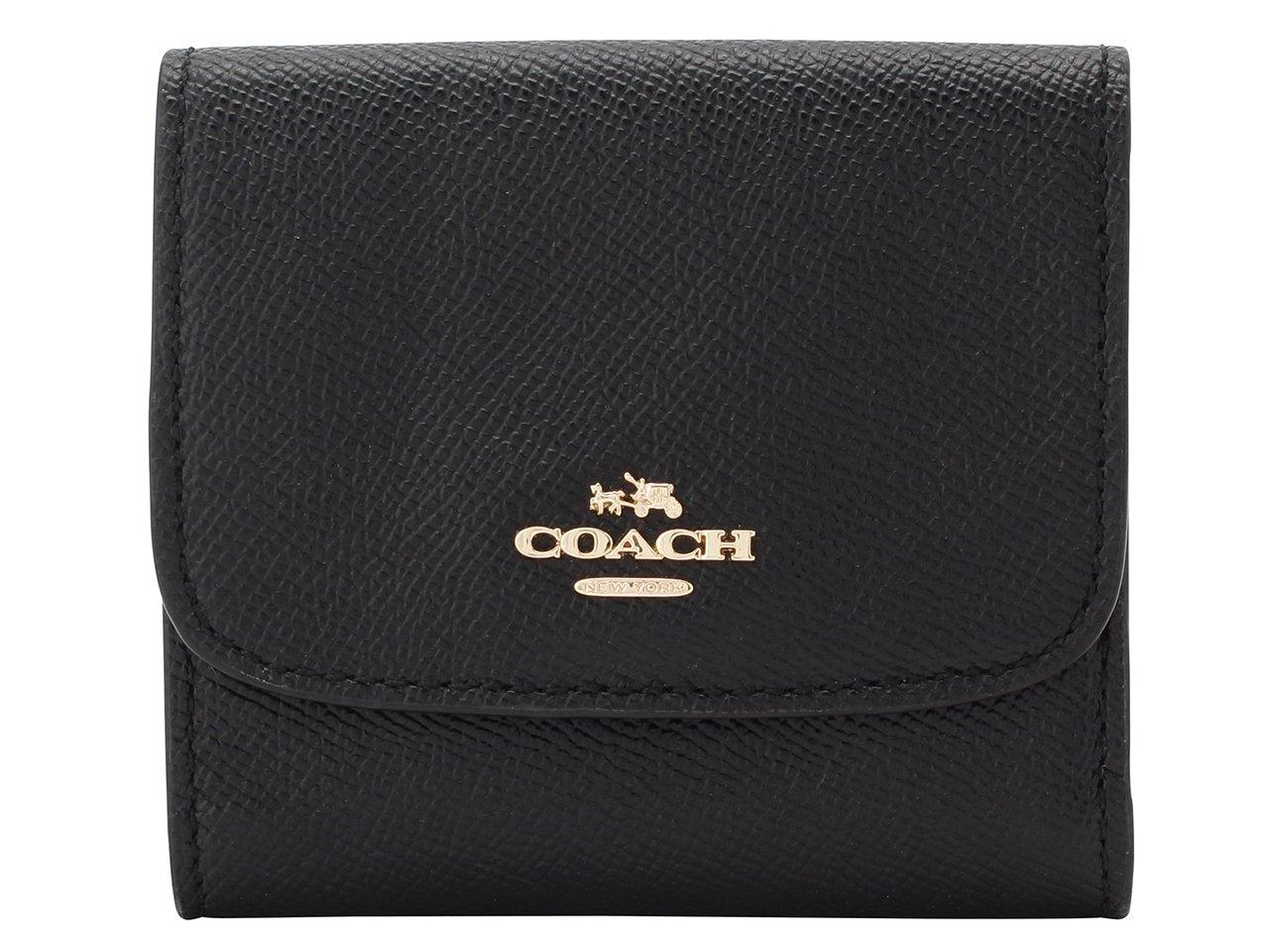 (コーチ) COACH 財布 三つ折り ミニ コンパクト レザー アウトレット [並行輸入品] B075D6JBG7 ブラック ブラック