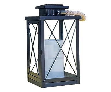 4bf2f8189a Lumisky FIREFLY Lanterne Décorative Solaire LED Métal/Plastique 1 W Noir 18  x 18 x