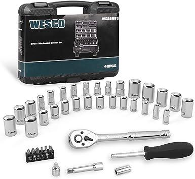 "New 1//4/"" 3//8/"" 1//2/"" Metric Drive Ratchet Wrench Socket Tool Set Car Repairing Kit"