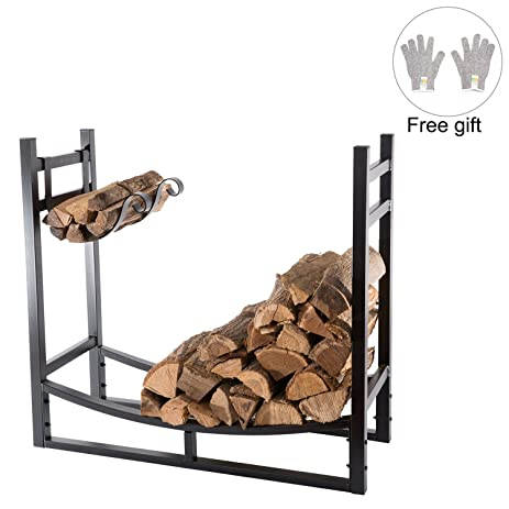 Amazon.com: HollyHOME Heavy Duty Firewood Racks 3 Feet Indoor ...