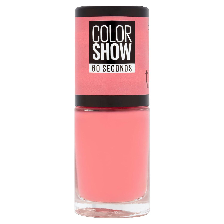 Maybelline ColorShow Nagellack, Nr. 677 blackout, bringt die Laufsteg-Trends aus New York auf die Nägel, in tiefem schwarz, 7 ml 30097025
