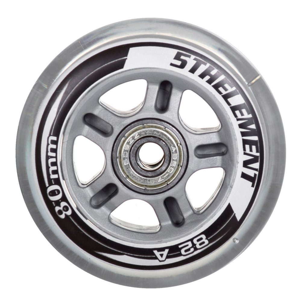 5th Element 8-Pack Performance 80mm Inline Skate Outdoor Replacement Wheels with ABEC-7 Bearings - 80mm by 5th Element